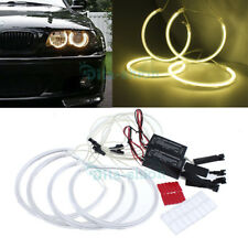 Nice CCFL Angel Eyes Halo Rings Yellow For BMW E46 E36 3 Series Non Projector