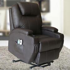 Shiatsu Massage Chair Power Lift Electric Recliner Sofa Wall Hugger Lounge Wheel