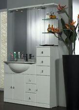 MOBILE da BAGNO per ARREDO bianco LACCATO  lavabo CERAMICA TOP MARMO specchio|m1