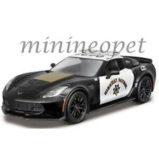 MAISTO 32516 2015 CHEVROLET CORVETTE C7 Z06 HIGHWAY PATROL POLICE CAR 1/24