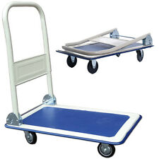 NEW HEAVY DUTY FOLDING PLATFORM FLAT HAND TROLLEY CART BARROW SACK GOODS PICKING