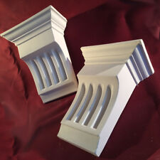 Fluted Corbels sold in pairs - Plaster Corbels 3 Sizes. Handmade in the UK
