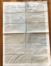 1859 EASTON MARYLAND newspaper TRIAL OF JOHN BROWN RAID ON HARPERS FERRY Slave