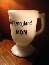 Disneyland Coffee Cup - Vintage California Theme Park Mom Walt Disney Milk Glass