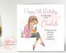 Personalised Birthday Card 10th 13th 14th Granddaughter Sister Niece, Any Age