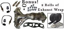 For Nissan Altima 2.5L Exhaust Manifold Catalytic w O2 Sensors & Bonus Heat Wrap