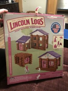 Lincoln Logs Country Meadow Cottage Pink Preschool Girl Knex 131/137 Pieces!