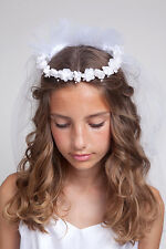 GIRLS HOLY COMMUNION VEIL, V 74