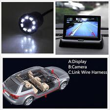 """4.3 """"tft écran pliants + 18,5 mm Mini CCD de sauvegarde inverse de voiture pour caméra"""