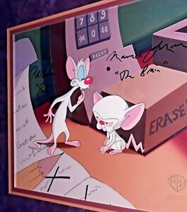 PINKY AND THE BRAIN ORIGINAL PRODUCTION ART HAND SIGNED BY VOICE PAULSON/LAMARCH
