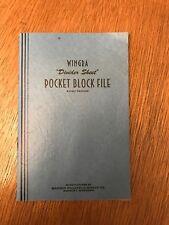 Wingra Pocket Block File Divider Sheet Madison Philatelic Supply Co. Wisconsin