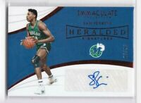 2018-19 Sam Perkins #/25 Auto Panini Immaculate Mavericks Heralded Signatures