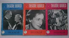 Theatre World Magazines 1951,Three Issues.Lace On Her Petticoat.Aimee Stuart