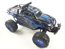Amewi X-King Brossé 1:12 RC Modèle Électrique Monstertruck Quatre Roues Bleu