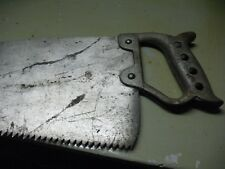 HENRY  DISSTON & SONS  DOCKING  SAW # 196  WARRANTED  CAST  STEEL  30''  4 TEETH