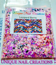 Limited Edition Glitter Mix~*LEOPARD BERRY* Comes With Alloy~ Nail Art