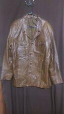 River Island Men's Leather Jacket Size L Brown