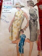 LOVELY VTG 1960s DRESS & SHORTS VOGUE Sewing Pattern 12/32