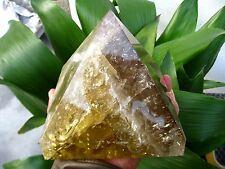 8.2lb HUGE NATURAL Citrine Smokey quartz crystal Pyramid healing
