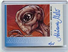 2014 GOODWIN CHAMPIONS #M56 ADRIANA MELO AUTOGRAPH SP #14/25, MONSTERS, MARTIAN