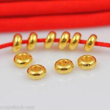 1pcs Authentic 24K Yellow Gold Pendant / 3D Craft Space Bead Pendant