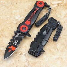 Spring Assisted Defender Xtreme SAW Tactical Pocket Folding Knife Sharp Blade rd