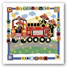 CHILDRENS ART PRINT Fire Truck by Cheryl Piperberg