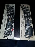 OO gauge Hornby R640 Left Hand curved point Steel boxed x 2