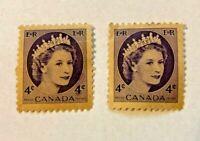 Canada Postage Stamp 4 Cents Queen Elizabeth