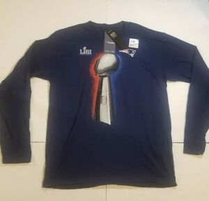 New England Patriots Vince Lombardi Trophy Fanatics Shirt Sz Large