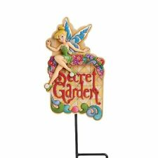 Jim Shore Welcome Secret Garden Plaque Tinker Bell Disney Traditions 4016533