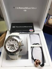 Techno Marine Mens Watch Brand New In Box, White Rubber Band