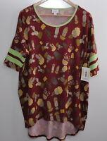 LuLaRoe Size Medium Cactus Print Irma Tunic Shirt Top New