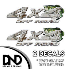 Snow Buck Camo Bass 4x4 Wraps Off Road Decals 2 Pk Sticker Chevy truck - D&7BF