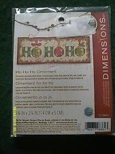 "Dimensions ""Ho Ho Ho Ornament"" Cross Stitch Kit Size 5 3/4"" x 2 1/4"""