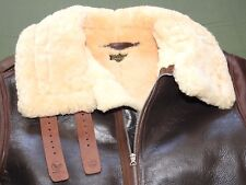 US Army AAF WW2 EASTMAN B-17 BOMBER PILOT B-3 SHEEPSKIN LEATHER FLIGHT JACKET