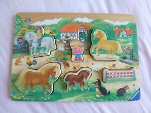 Horse farm shape sorter Wooden Puzzle