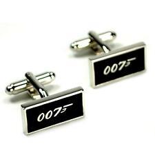 007 CUFFLINKS James Bond NEW w GIFT BAG Groom Best Man Wedding Pair Men's Gift