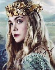 Elle Fanning In-person AUTHENTIC Autographed Photo COA Maleficent SHA #40957