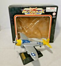 MOTORMAX - FAMOUS FIGHTERS - APPROX 12CM LENGTH - P-47 THUNDERBOLT - DIECAST