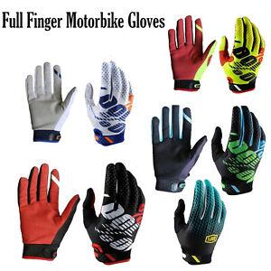 Full Finger Motorbike Cycling Gloves Motocross Mountain Bike Riding MTB Glove UK