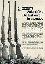 1972 Print Ad of Garcia Arms Sako Model 72 Rifle the last word in accuracy