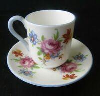 Shelley Rose Bouquet Miniature Mini Teacup Tea Cup and Saucer England
