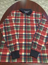 Vintage Chaps Ralph Lauren Flannel L/S Plaid Mens Polo Medium M