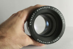 Episkop Ennagon F3.5 200mm Projection Lens Germany bokeh cine bubble