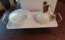 Federal Gold Stars Atomic OvenWare Chafing Dish w/ Starline Rodney Kent Pitcher