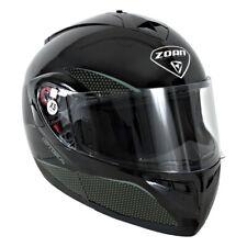 Zoan Adult Optimus Solid Snowmobile Modular Helmet Gloss Black XS-3XL