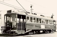6BB360 RP 1946 MUNICIPAL RAILWAY S F STREETCAR #110 BROAD & PLYMOUTH STs CA
