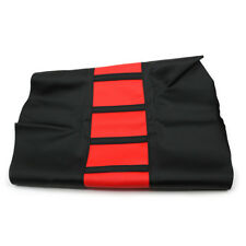 Red Striped Gripper Soft Seat Cover Skin For Honda CR125 CR250 CRF230 CRF450