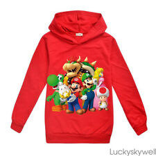 Gifts Super mario Bros Bowser Kids Boys Girls Clothes Sweatshirt Hoodie Top Coat